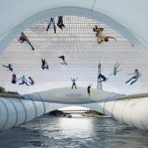 des trampolines xxl pour remplacer les ponts parisiens mon. Black Bedroom Furniture Sets. Home Design Ideas