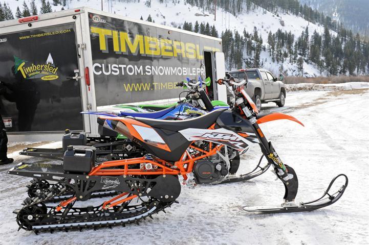 Motocross neige