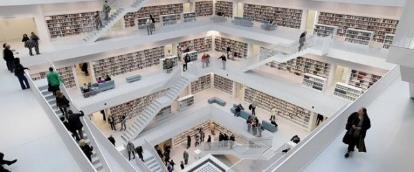 La biblioth que de stuttgart donne le vertige mon coin for Architecture et son