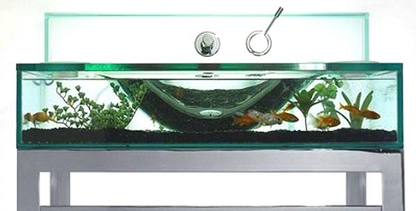 Opulent Items imagine un évier en forme d'aquarium