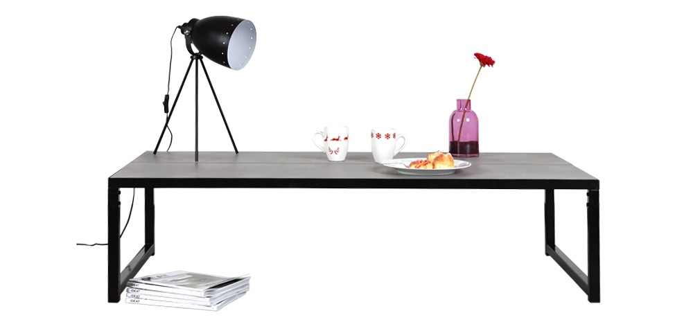 acheter table basse salon b ton en m talmon coin design. Black Bedroom Furniture Sets. Home Design Ideas