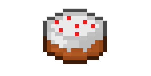 gâteau du jeu vidéo Minecraft