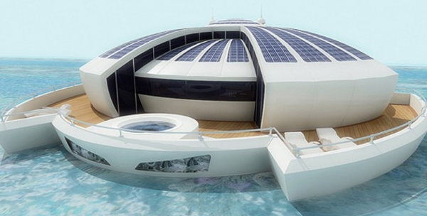 solar floating resort une maison futuriste flottante mon coin designmon coin design. Black Bedroom Furniture Sets. Home Design Ideas