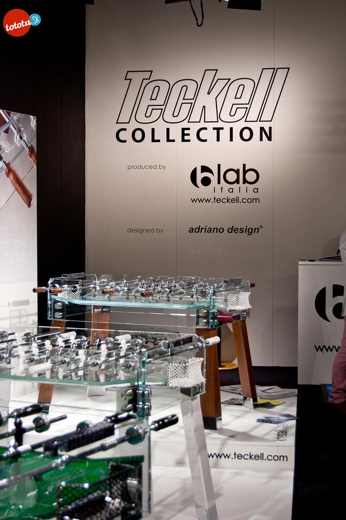 la collection Teckell Krystall composée de babyfoot en verre