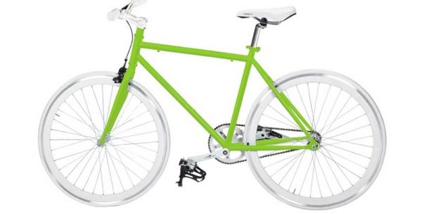 achat velo fixie vert design