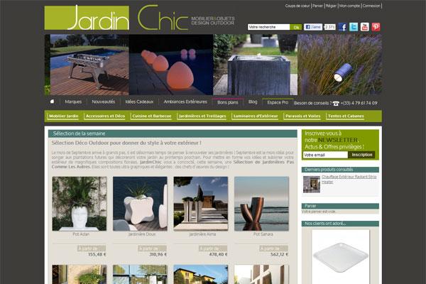 JardinChic mobilier et accessoires de jardin contemporains