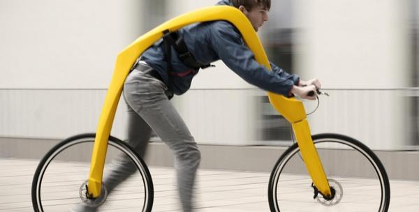 flitz foot powered bike concept