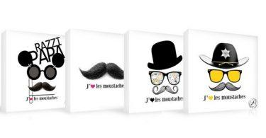 tableau design moustache pas cher