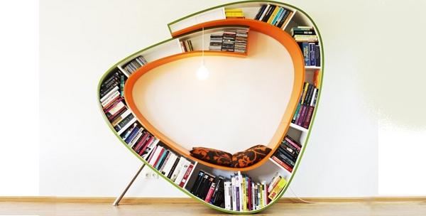 bibliothèque design boowkworm
