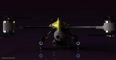 drone futuriste de sauvetage