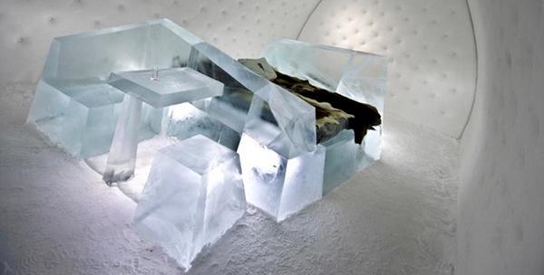 hôtel de glace en Suède par Wouter Biegelaar