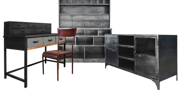 mobilier style industriel pas cher mobilier style industriel sur enperdresonlapin. Black Bedroom Furniture Sets. Home Design Ideas