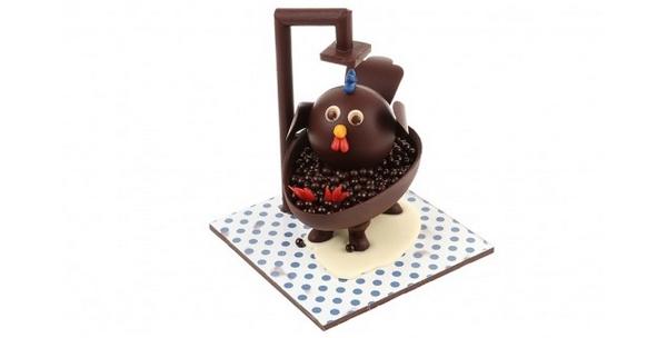 poule en chocolat de Pâques