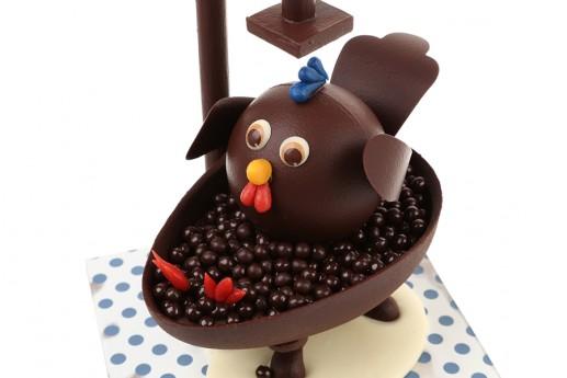 poule en chocolat de la chocolaterie à la mère de famille