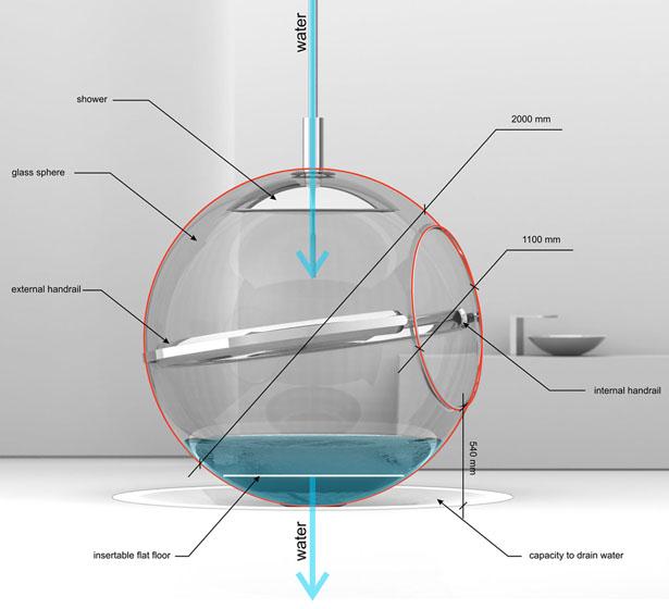un cr ateur invente une baignoire design suspendue mon. Black Bedroom Furniture Sets. Home Design Ideas