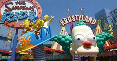 parc d'attractions les Simpsons aux USA