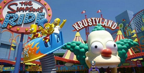 parc d'attractions les Simpsons aux USA