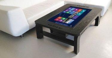table basse design tactile