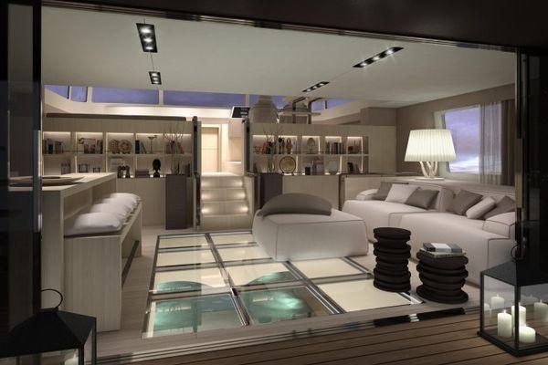 un catamaran de luxe de 21 m tres de long mon coin design. Black Bedroom Furniture Sets. Home Design Ideas