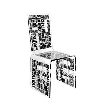 chaise transparente design