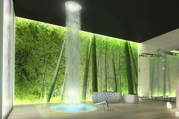 Salle de bain zen et nature du Studio Bizzarro