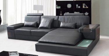 canapé d'angle en cuir design