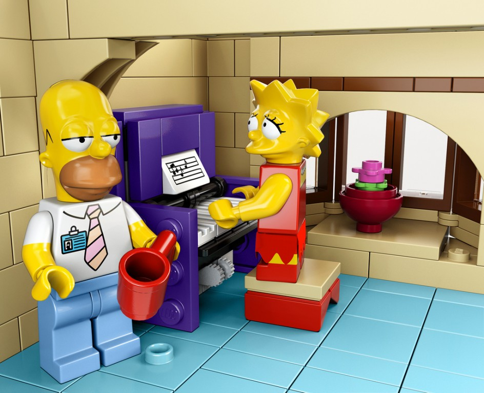 maison des Simpsons en Lego