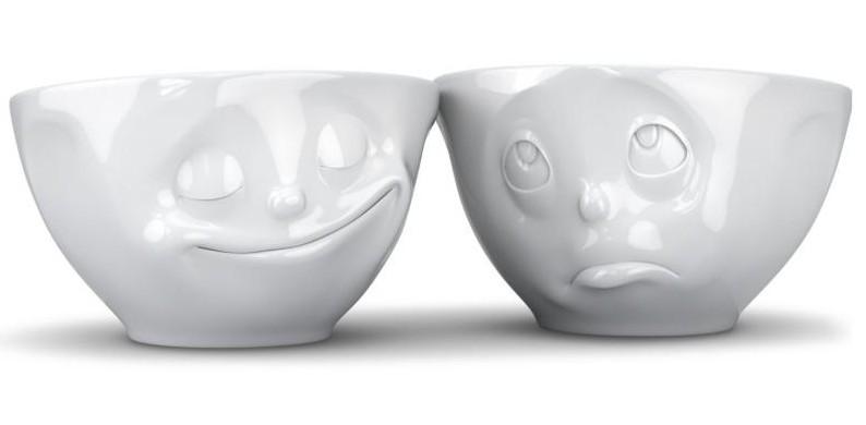 duo de bol humeur en porcelaine