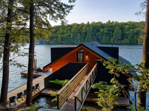 Lake Joseph Boathouse de Altius Architecture
