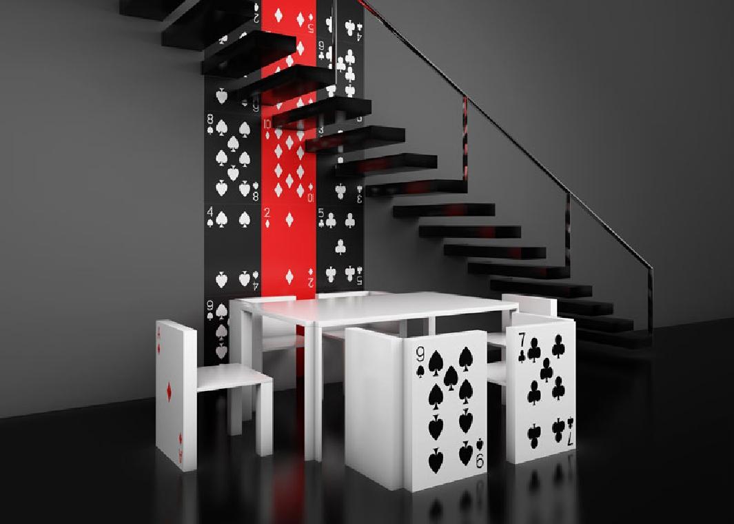 le poker et le design une alliance pleine d 39 atoutsmon coin design. Black Bedroom Furniture Sets. Home Design Ideas