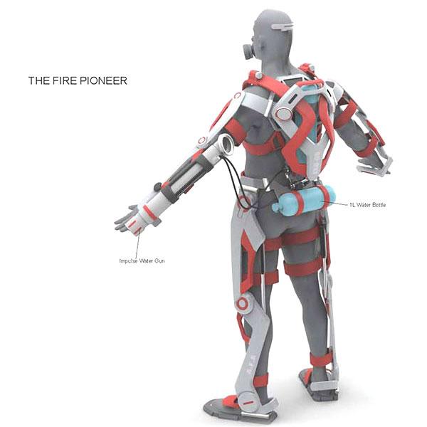 exosquelette de pompier