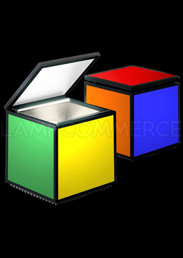 lampe cube multicolore