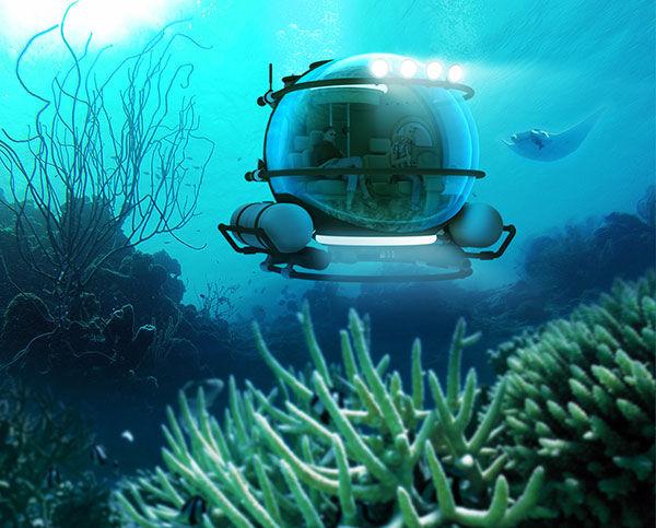 sous-marin d'Eduardo Galvani