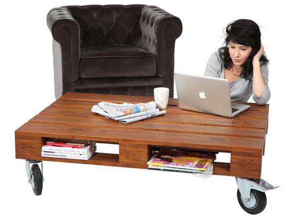 monter un meuble TV avec une palette