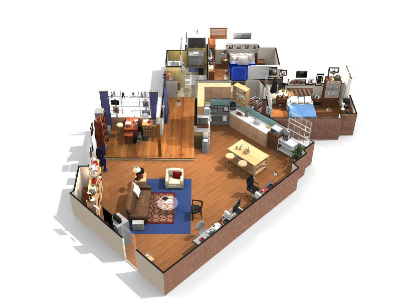plan appartement The Big Bang Theory