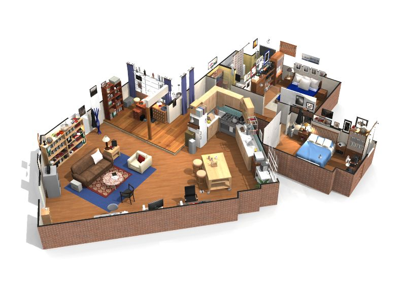 The big bang theory visitez l 39 appartement de sheldon - Home by me ...