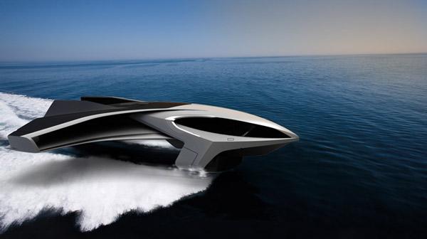 bateau ultra futuriste