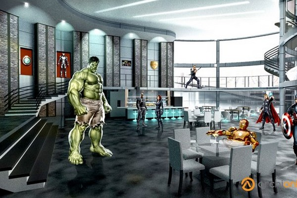 plan d'appartement des super héros