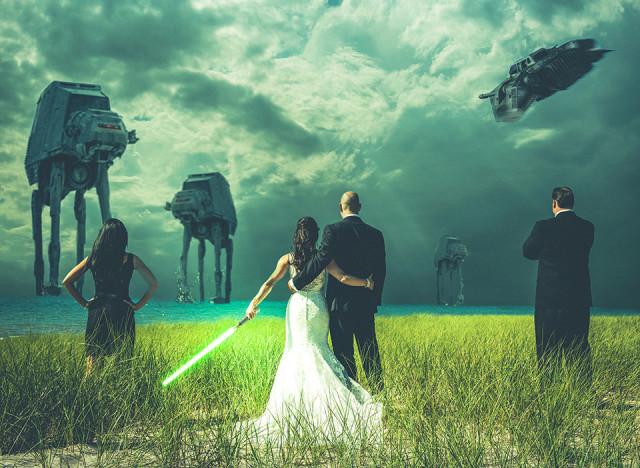 photo de mariage style guerre des etoiles