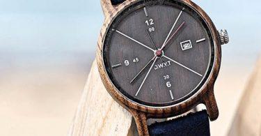 montre en bois design